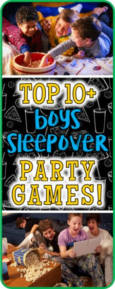Top 10 boys sleepover games guaranteed to entertain and amuse your group of young bucks. Let's Party! Top 10 boys sleepover games guaranteed to entertain and amuse your group of young bucks. Let's Party! Games For Girls Sleepover, Birthday Sleepover Ideas, Sleepover Party Games, Sleepover Invitations, Sleepover Activities, Games For Boys, Kids Party Games, Birthday Party Games, Ball Birthday