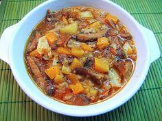 LA COCINA DE MI CASA: Níscalos guisados con calabaza. http://www.lacocinademicasa.net/2013/02/niscalos-guisados-con-calabaza.html