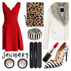"""Plush Red"" by chiclookdujour ❤ liked on Polyvore featuring Chicwish, Diane Von Furstenberg, MAC Cosmetics, Clare V., Versace, Miu Miu, women's clothing, women's fashion, women and female"