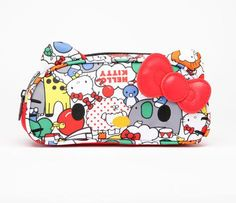 Hello Kitty Face Pencil Pouch: Red Ribbon