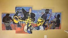 Contemporary art Modern Art  jazz art music art by Parrish