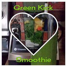 "Green Kick Smoothie  I needed to use up some organic baby spinach so I tossed together this smoothie.  1 cup coconut water  1/4 cup coconut milk yogurt  3 cups organic baby spinach  1 slice of lime  1 tsp camu camu powder  1 1/2 tsp each chia and flax seeds  1"" piece ginger root  1 1/2"" turmeric root  1 cup frozen pineapple - part core  1/2 cup ice  #Vitamix #vegan #govegan #healthy #keepitreal #godairyfree #dairyfree #dairyfreelife #plantstrong #plantstrongvegan #healthyeats…"