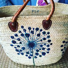 Cesta de playa. #cestaspintadas #capazospintados #pintadoamano #capazos #cestas #cestaspersonalizadas