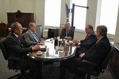 Na quinta-feira, dia 31 de agosto, o presidente do Sindseg SP, Mauro Batista, o diretor executivo, Fernando Simões,  e o consultor,  Adhemar Fujii,  estiveram reunidos com o Dr.  Mágino Alves