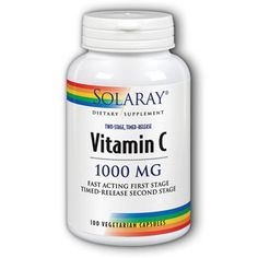 Solaray Vitamin C  1000 mg  100 Vegetarian Capsules -- Visit the affiliate link Amazon.com on image for more details.