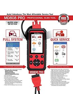 Autel MaxiDiag Updated Pro Professional Automotive Scanner Combination of MaxiCheck Pro and Multifunctional Scan Tool >>> Check this awesome product by going to the link at the image. (This is an affiliate link) Oil Service, Auto Service, Electronic Control Unit, T Power, Body Systems, Brake Pads, Automotive Tools, Card Reader, Brand Names