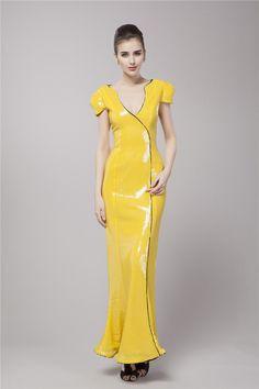 $119.89 Sheath Column V-Neck Floor Length Sequined dress -Evening Dresses-DeniseDress