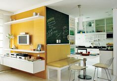 colors..  Wall bench for seating would free up valuable space