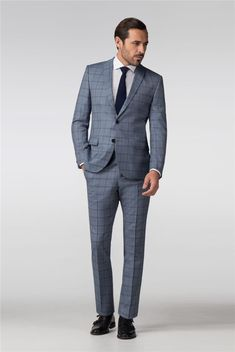 Without Prejudice Aldwych Check Slim Fit Suit