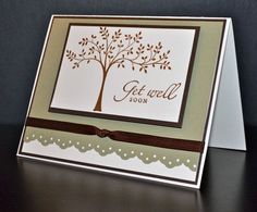 Get Well Card Handmade Card Stampin' Up Card by LizzyJaneBoutique, $3.50