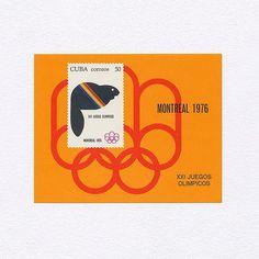 Montreal Olympics — Mascot Amik (50). Cuba, 1976. Design: Designer Unknown. #mnh #graphilately