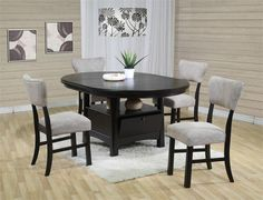 dining table with storage for chairs