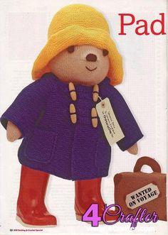 [New]Paddington by Alan Dart (Woman's Weekly)-Free Craft Patterns Free Knitting Patterns Uk, Animal Knitting Patterns, Doll Patterns, Free Pattern, Knit Patterns, Amigurumi Patterns, Knitting Ideas, Craft Patterns, Knitting Projects
