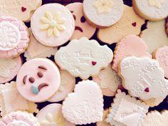 Fondant thank you sugar cookies
