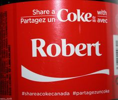 Share a Coke with Robert New 591ml Bottle from Canada Coca Cola Ltd Edition