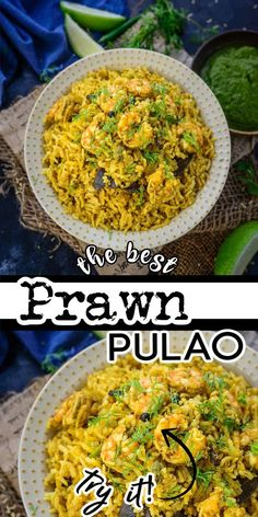 Shrimp Pulao or Prawns Pulao is a delicious one-pot Indian rice dish made using rice, shrimp, herbs, and spices. I am sharing 2 ways in which you can make this pulao at home. Prawn, Curry, Ethnic Recipes, Rice, Food, Curries, Essen, Meals, Yemek