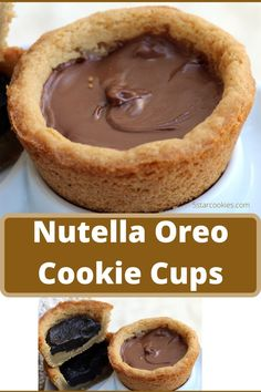 If you love Nutella and Oreo this is your recipe. The name is Nutella Oreo Cookie Cups. Easy to make and fun to eat. Enjoy and share Nutella Oreo Cookie Cups with all your family and friends. Nutella Macarons, Nutella Cookies, Oreo Cookies, Chocolate Chip Cookies, Star Cookies, Nutella Frosting, Easy Desserts, Delicious Desserts, Dessert Recipes