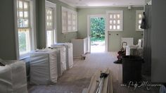 "Sunroom: Sherwin Williams ""Softened Green"""