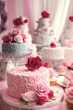 Pink Iced Cakes
