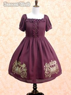 Innocent World - OP - British Noble Emblem OP /// ¥22,890 /// Bust:  85-119cm Waist:  72-112cm Length:  87cm