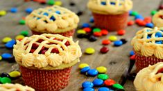 cute and easy cupcakes with m and ms - Google Search
