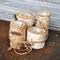 Brzozowe świeczniki-pieńki 4szt, filtr Tea Lights, Candle Holders, Candles, Living Room, Tea Light Candles, Porta Velas, Candy, Candle Sticks, Candlesticks