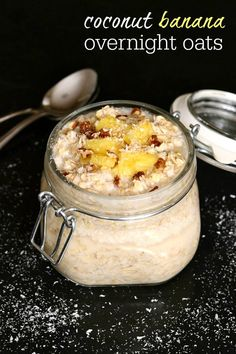 Coconut Banana Overnight Oats are one of my favorite make-ahead breakfast recipes. This recipe is so easy and so delicious!
