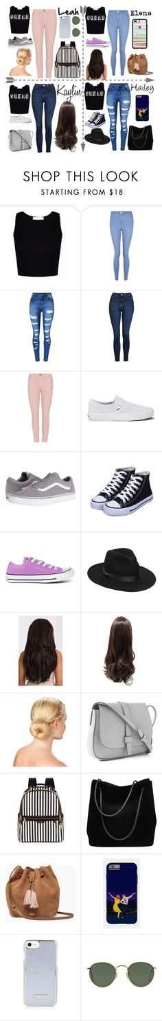 """""""Hanging out with my BFF'S"""" by underthesea29 ❤ liked on Polyvore featuring New Look, WithChic, Topshop, Citizens of Humanity, Vans, Converse, Lack of Color, Gap, Henri Bendel and Gucci"""