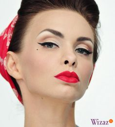 Pin-up girl makeup, looks great on everyone
