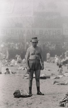 View Man in hat, trunks, socks and shoes, Coney Island, N.Y by Diane Arbus on artnet. Browse upcoming and past auction lots by Diane Arbus. Diane Arbus, People Photography, Vintage Photography, Street Photography, Portrait Photography, Icon Photography, Happy Photography, Landscape Photography, Coney Island