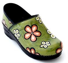 hand painted dansko clogs for women | Dana Herbert: Cool Shopping Finds: Hand-Painted ... | Dansko- Sanita