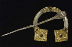 Pictish treasure on St. Ninian's Isle, possibly ~8th century. Penannular Brooch.