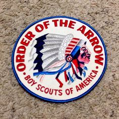 "1960's Order of The Arrow Boy Scouts Patch Extra Large 6"" Diameter New 