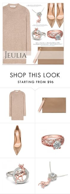 """""""Jeulia Beige Moment"""" by lucky-1990 ❤ liked on Polyvore featuring Marni, Mulberry, H&M, Gianvito Rossi, women's clothing, women, female, woman, misses and juniors"""