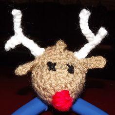 Rudolf crocheted Keyring / bag charm  £5.00 + postage Charmed, Christmas Ornaments, Holiday Decor, Crochet, Bag, How To Make, Cards, Christmas Jewelry, Ganchillo