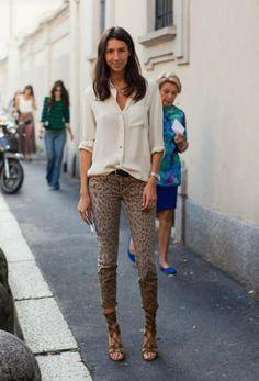 Tendencia: jeans animal print, si o no   Mi diario más Chic