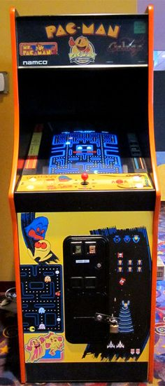 My local movie theater has a Pac-Man Galaga combo arcade cabinet.  Used 2 oper -ate ..ms pa man even better....both very very good money-makers