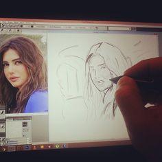 Olina Alhaj Work in progress #Portrait #painting #Drawing #digitalPainting #Sketching #wacom #corelpainter #art #illustration #Dubai #UAE #happydubai #MyDubai #كلنا_رسامين #رسامين_العرب #رسامين #دبي