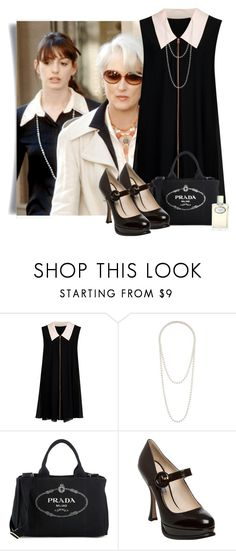 """""""THE DEVIL WEARS PRADA"""" by alice325 ❤ liked on Polyvore featuring Prada, Ted Baker and Topshop"""