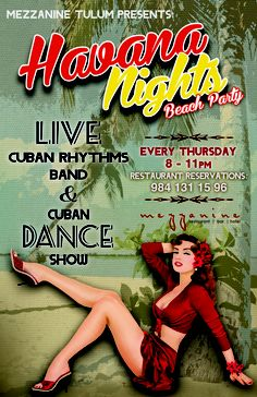 Havana Nights - vintage poster. I ♥ Havana http://Netssa.com/havana.html..                                                                                                                                                     More