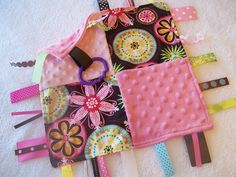 Taggie Blanket~ babies love these!