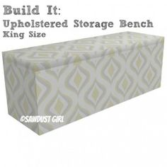 A Blanket Storage Bench for the end of the bed -- Necessity!!