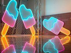 Neon Logo, Led Neon Signs, Led Technology, Luz Led, Neon Lighting, Emoticon, Wedding Signs, Wedding Ideas, Ice Cream