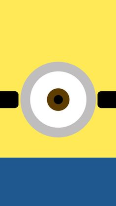 !!TAP AND GET THE FREE APP! Lockscreens Locked Funny Cartoons Minions Yellow Blue Eyes Cool Simple HD iPhone 5 Wallpaper