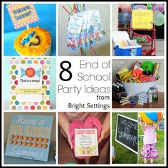 Throw an end of the school year bash that the kids will love. Maybe you don't want to throw an entire party? Use some of our ideas for a small celebration at home with just your own kids. Or invite the neighborhood. #partyideas #endofschool #summerparty