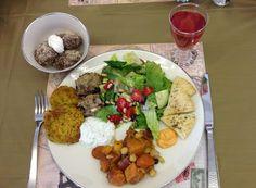 ... Mediterranean Turkey Meatballs with Herbed Yogurt Sauce, Herbed yogurt