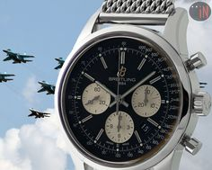"""""""Formation On Course!"""" #Breitling 43mm Transocean Chronograph LTD ED, circa 2010 Ref#: AB0151 ($5,675.00 USD) http://www.elementintime.com/Breitling-Transocean-Chronograph-AB0151-Stainless-Steel-Limited-Edition"""