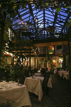 Magical courtyard restaurant at the Ubiquitous Chip
