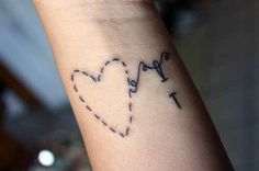 A whimsical stitch: | 65 Totally Inspiring Ideas For Wrist Tattoos