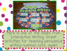 Interactive Writing classroom, persuas write, write idea, grade, chart, persuasive writing, interact write, kindergarten, kid